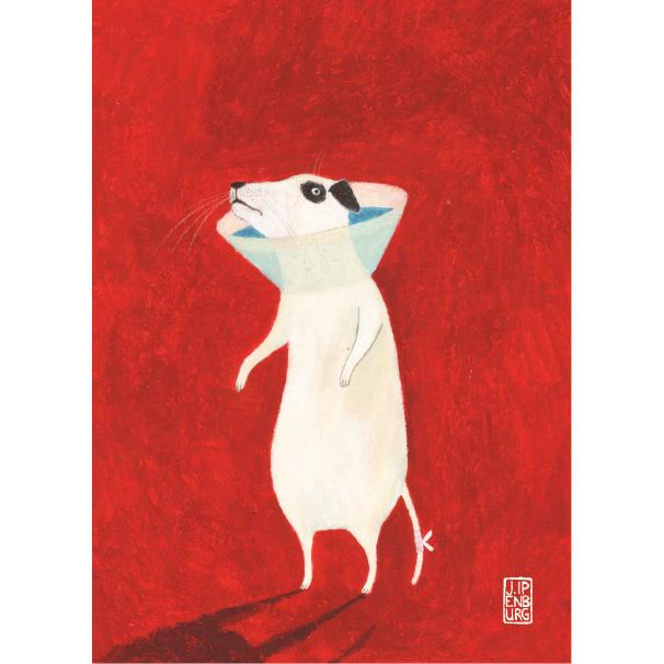 Postkaart A6 | Sick Dog | 1 stuk