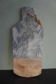 Serveerplank met grijs marmer
