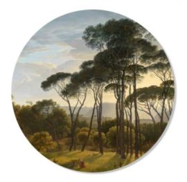 Muurcirkel Italiaans landschap 30 cm