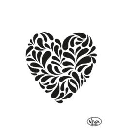 Sjabloon Paisley Heart