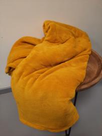 Fleecedeken okergeel 150x200 cm
