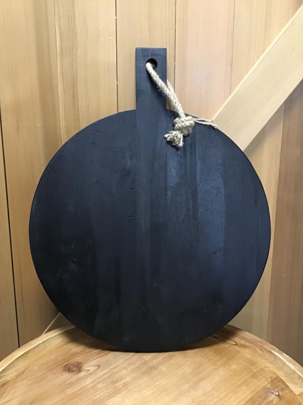 Serveerplank rond zwart