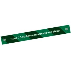 Vloersticker afstandstreep (10 stuks) - Houd 2,5 stokbroden afstand
