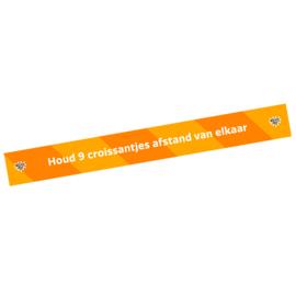 Vloersticker afstandstreep (10 stuks) - Houd 9 croissantjes afstand