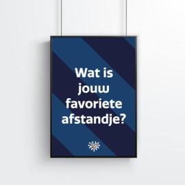 Poster (10 stuks) - Wat is jouw favoriete afstandje