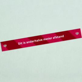 Vloersticker afstandstreep (10 stuks) - Dit is anderhalve meter afstand