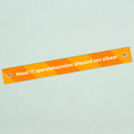 Vloersticker afstandstreep (10 stuks) - Houd 17 sperzieboontjes afstand