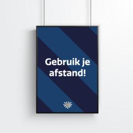 Poster (1 stuk) - Gebruik je afstand