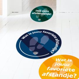 Vloerstickers (10 stuks) - Mix van quotes en kleuren