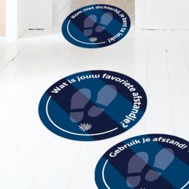 Vloerstickers (10 stuks) - Verschillende quotes in één kleur naar keuze