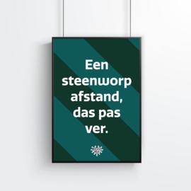 Poster (10 stuks) - Een steenworp afstand, das pas ver