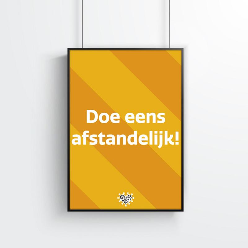 Poster (10 stuks) - Doe eens afstandelijk