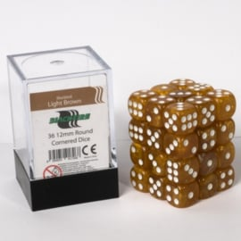 Blackfire - D6 Dobbelstenen Cube - Light Brown (36 stuks)