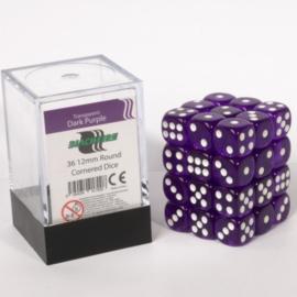 Blackfire - D6 Dobbelstenen Cube - Dark Purple (36 stuks)
