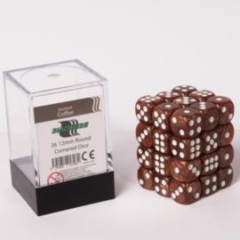 Blackfire - D6 Dobbelstenen Cube - Coffee (36 stuks)