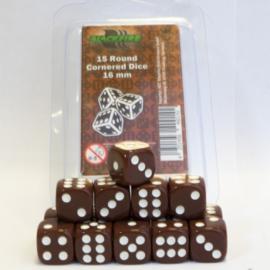 Blackfire - D6 Dobbelstenen - Brown (15 stuks)