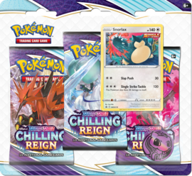 3 Pack Booster Blister - Snorlax - Chilling Reign