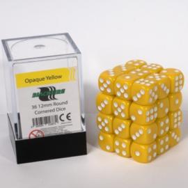 Blackfire - D6 Dobbelstenen Cube - Opaque Yellow (36 stuks)