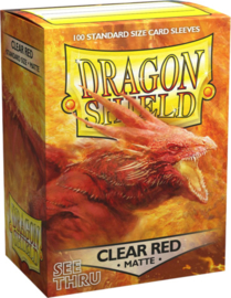 Dragon Shield - Clear Red Matte Sleeves