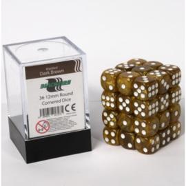 Blackfire - D6 Dobbelstenen Cube - Dark Brown (36 stuks)