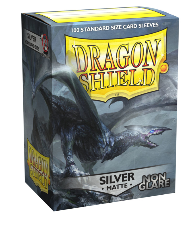 Dragon Shield - Silver Matte Non Glare Sleeves
