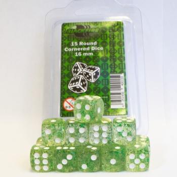 Blackfire - D6 Dobbelstenen - Glitter Green (15 stuks)