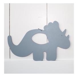 Verslingerd aan Hout | Wandhanger Triceratops klein