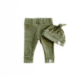 Little & Cool | Newborn set dots olive
