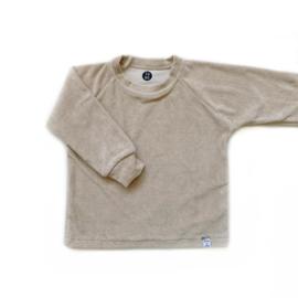 Little & Cool | Sweater badstof zand