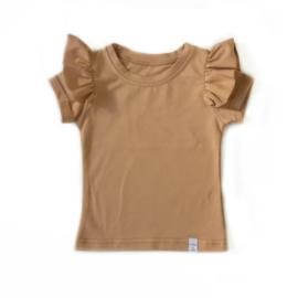 Little & Cool | Shirt Ruffle camel