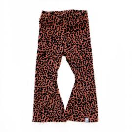 Little & Cool | Flared velvet leopard terra
