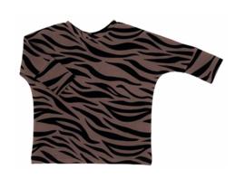 The Little Cuties | Oversized sweater old mauve zebra