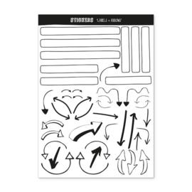 Oh my Goody | Invulboek Stickers 'Labels + Arrows'