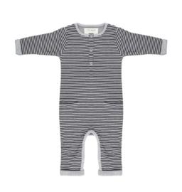 Little Indians   Onesie Black grey stripe