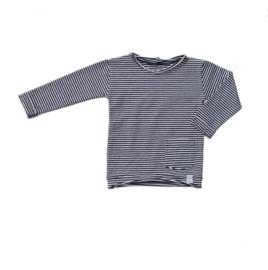 Little & Cool | Longsleeve zwart wit streepje