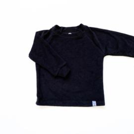 Little & Cool | Sweater badstof zwart