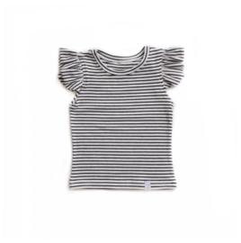Little & Cool | Shirt ruffle streep