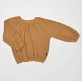 No Labels | Balloon top knit camel