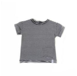 Little & Cool | Shirt zwart wit streep