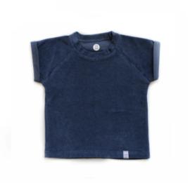 Little & Cool | Shirt Badstof blauw