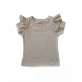 Little & Cool | Shirt ruffle zand