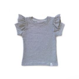 Little & Cool | Shirt ruffle mini streep