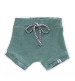 Little & Cool | Short badstof groen