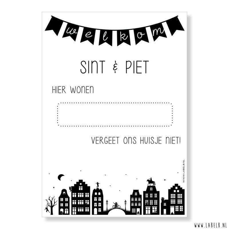 Poster 'Welkom Sint & Piet'