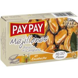 Pay Pay mejillones esc. 16/20 OL 120g