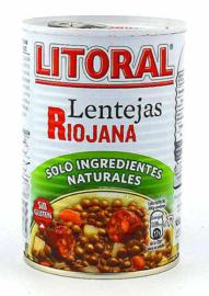 Litoral Lenteja Riojana 425g