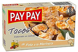 Pay Pay tacos de pota a la marinera 115g