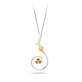 Pendant with little snail and flower.