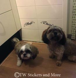 Honden botjes met naam (lettertype naar wens)