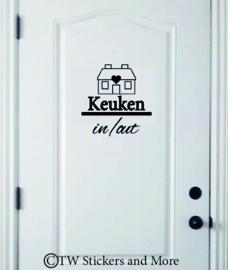 Keuken deur in/out (huisje naar keuze)